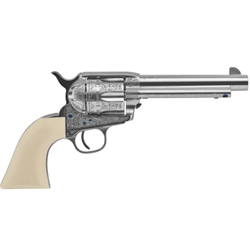 "Uberti  1873 Single Action Cattleman NM Outlaws & Lawmen ""Teddy"" .45 Colt 5.5""Bbl F/N Plated Steel Revolver"